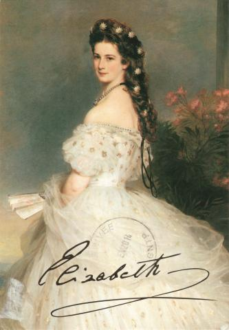 Painting of Empress Elisabeth of Austria.